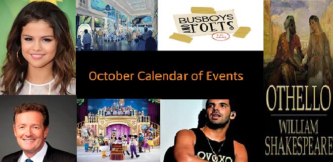 Calendar of Events 2013 October