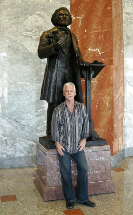 Frederick Douglass Statue & Steven Weitzman medium