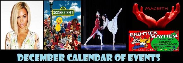 decembar calendar of events