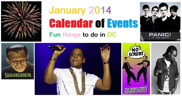 2014 January Calendar of Events