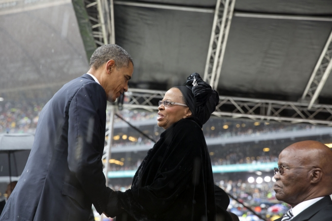 POTUS - Commons Obama Mandela Memorial Graca Machel