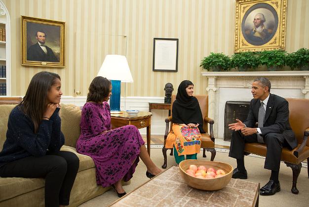 NOV 2014 Malala Yousafzai Limelight White House 1