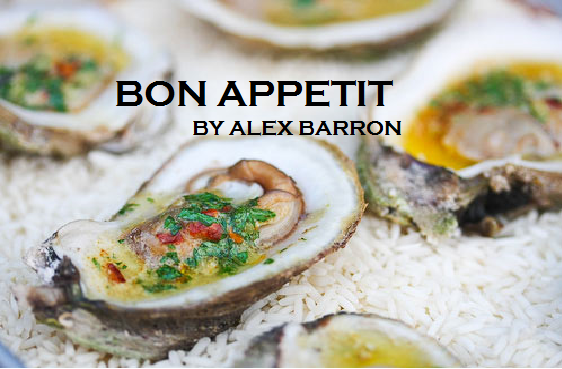 2015 Bon Appetit January Grilled Oysters Simply recipes pic labeled