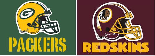 DC SPOTLIGHT - Green Bay Packer & Redskins logo