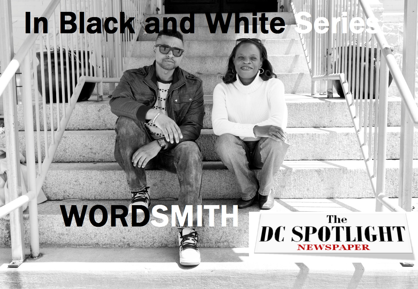 WORDSMITH - WENDY AND WORDSMITH ON STEPS medium LABEL LOGO