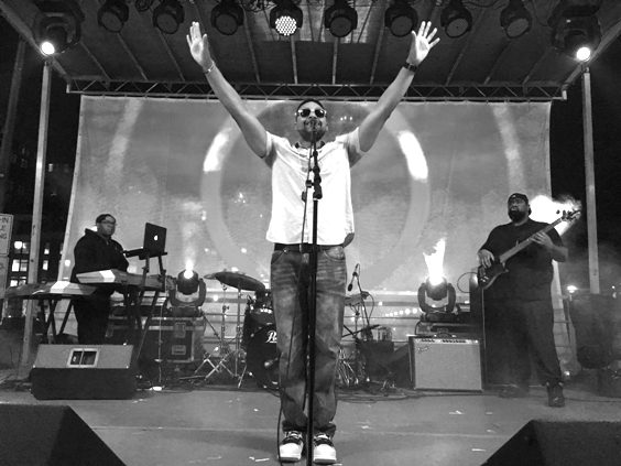 Wordsmith - on stage 2 B&W