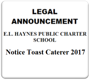 AD ART - E.L.HAYNES444 - 07-17-2017 - Notice Toast Caterer 2017