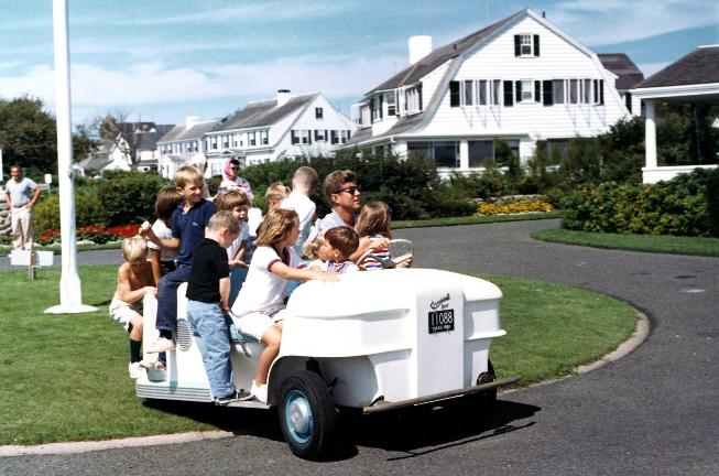 JFK at Kennedy Compound in color (Boston Globe) small