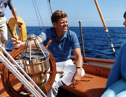 JFK at sailing (KennedyLegacyTrail.com)