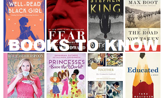 BOOKS TO KNOW – October 2018 Top 10 Book List