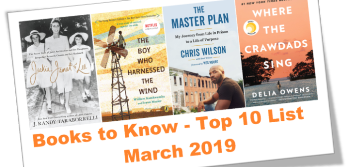 BOOKS TO KNOW – March 2019 Top 10 Book List