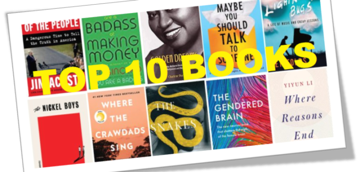 BOOKS TO KNOW – August 2019 Top 10 Book List